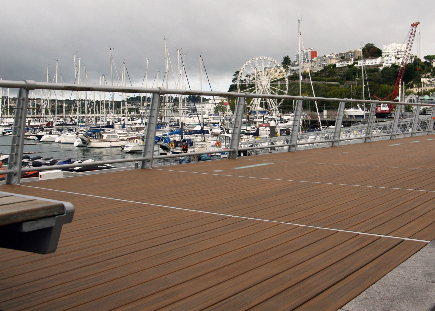 Trex composite decking at Torquay Beacon Quay