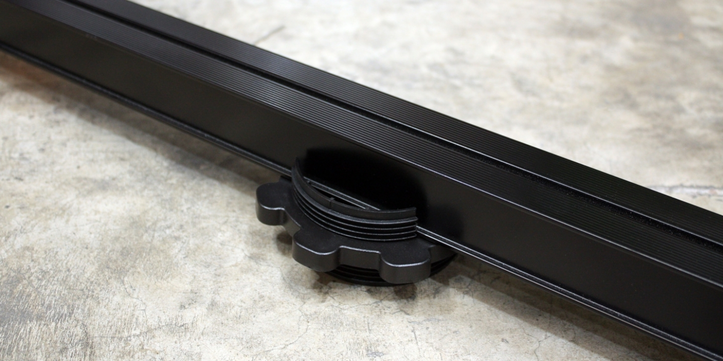 black aluminium decking joist and 10-40mm decking joist cradle