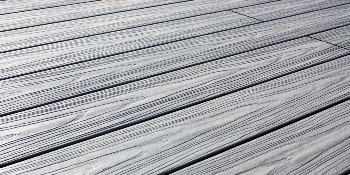 Silver birch wood-grain composite deck boards