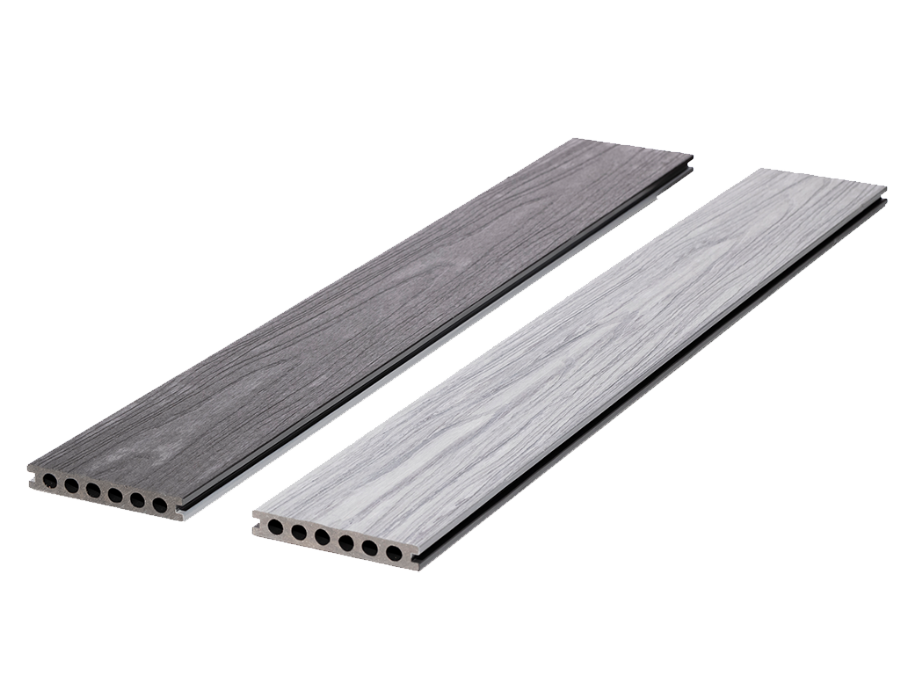 8 finishes available<br/>Board length: 3m <br/>See <a href='/ryno-terrace/composite-decking/'>Ryno Composite Decking range</a>