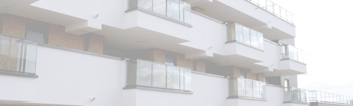 Balconies with glass balustrade non-combustible solution