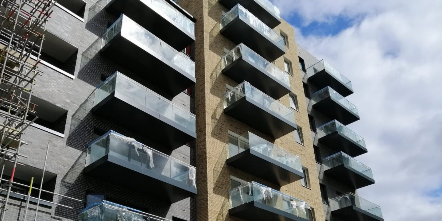 balconies with aluminium decking installed