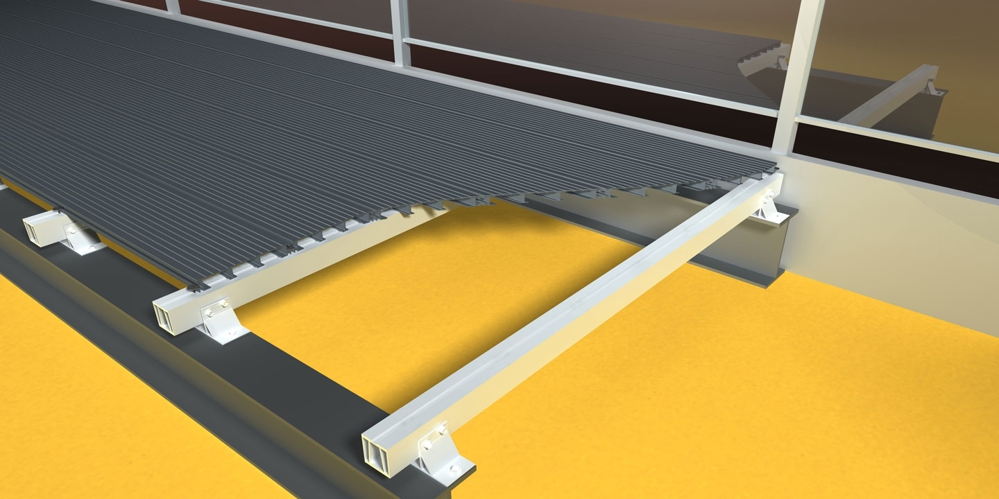 ryno alu terrace non-combustible bolt on balcony decking system application