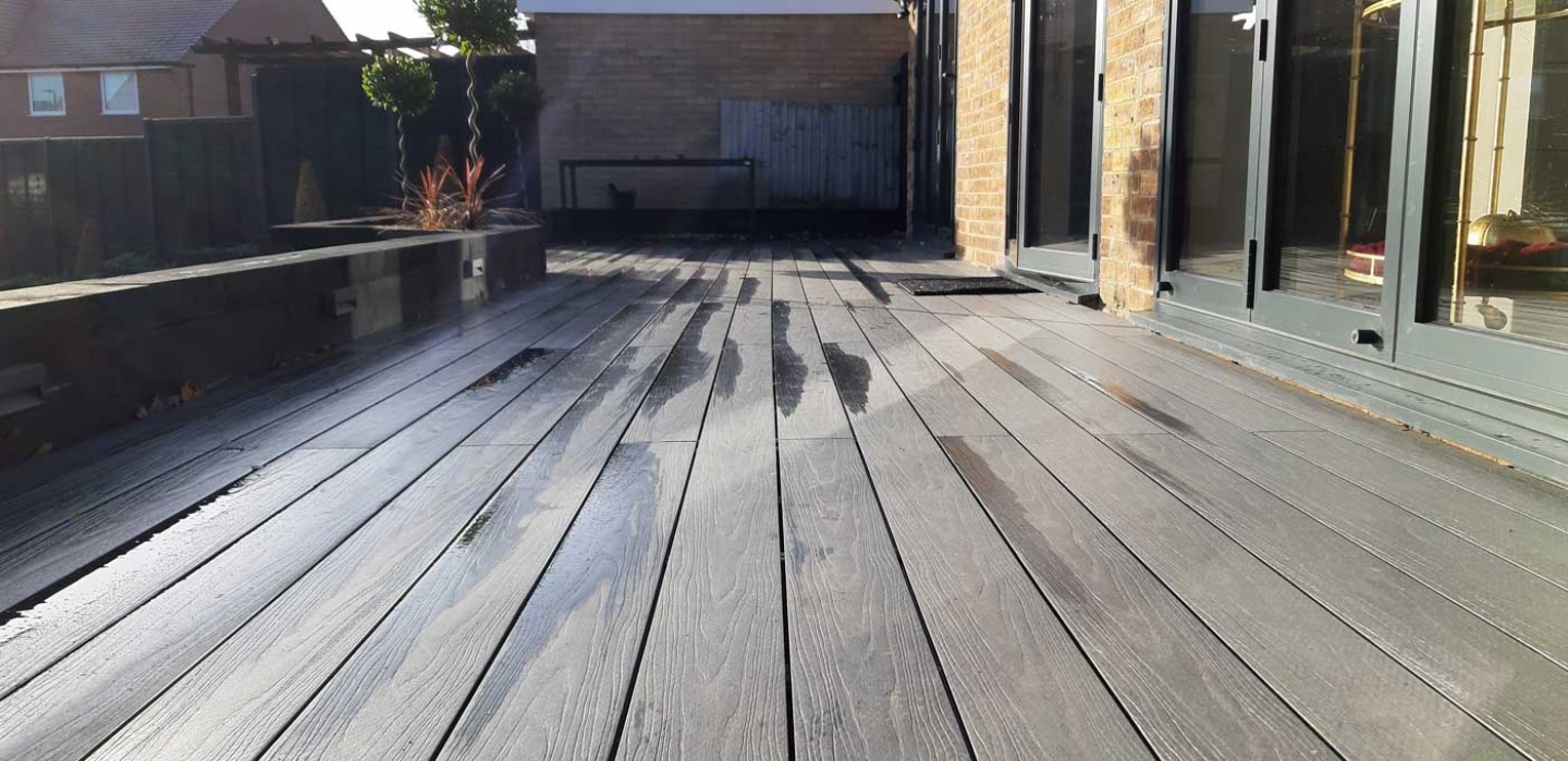 ryno black composite decking project