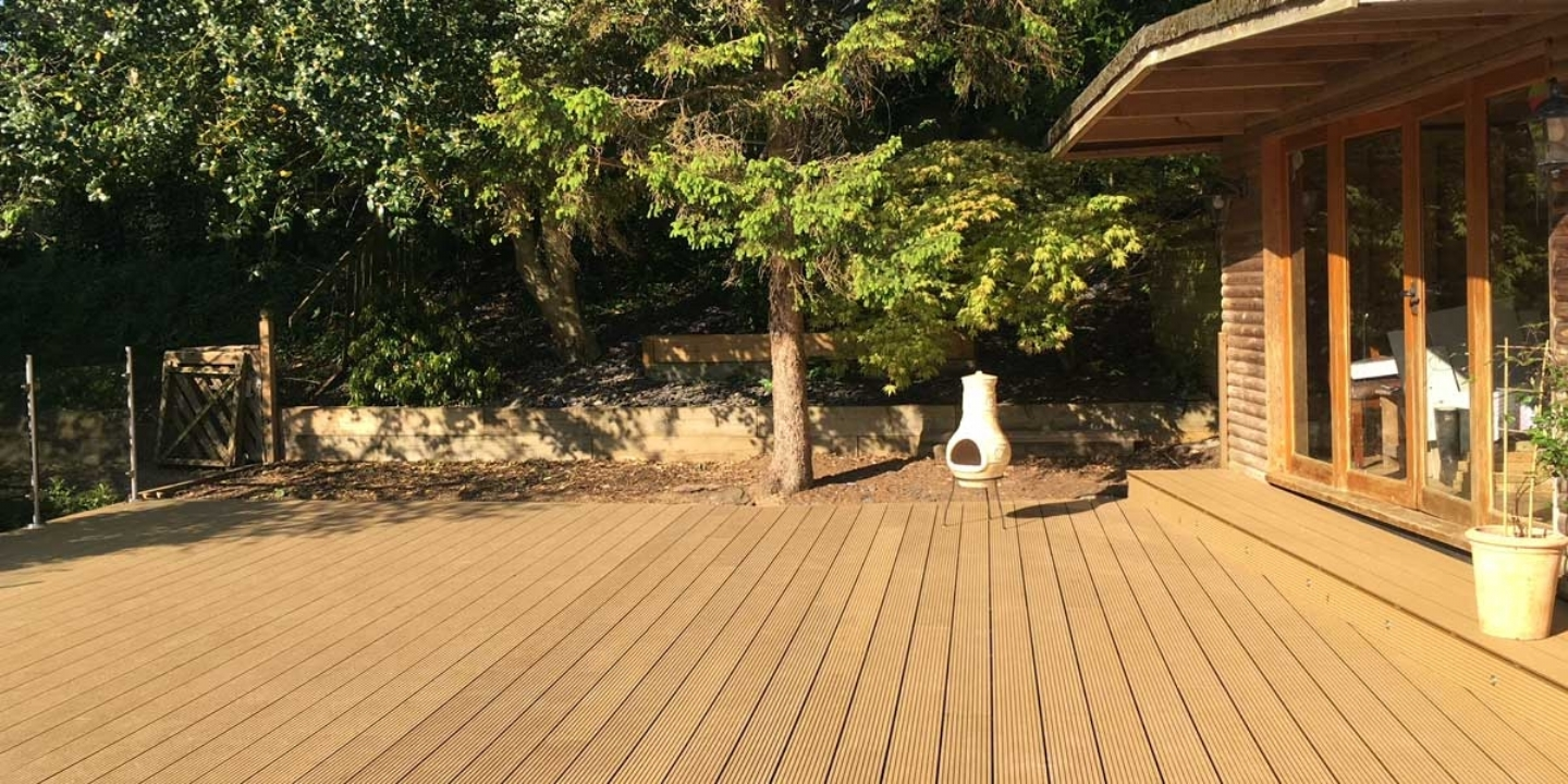 ryno classic composite decking in back garden