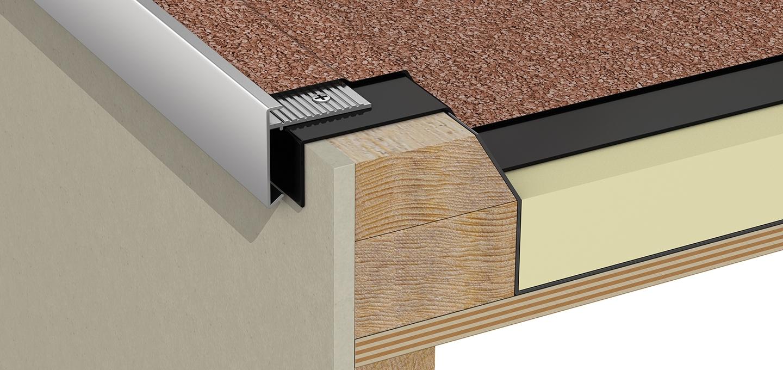 Aluminium Roof Edge Trim Metal Flat Roof Edge Trim